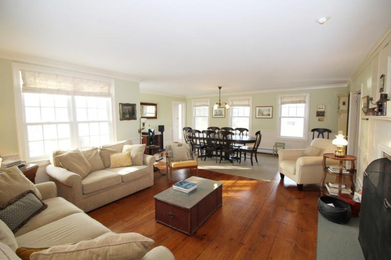 Large living room with comfortable seating