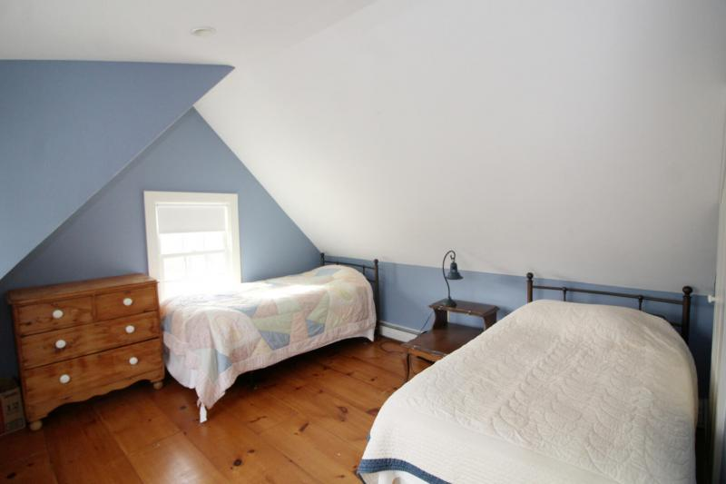 Second floor bedroom with two twins