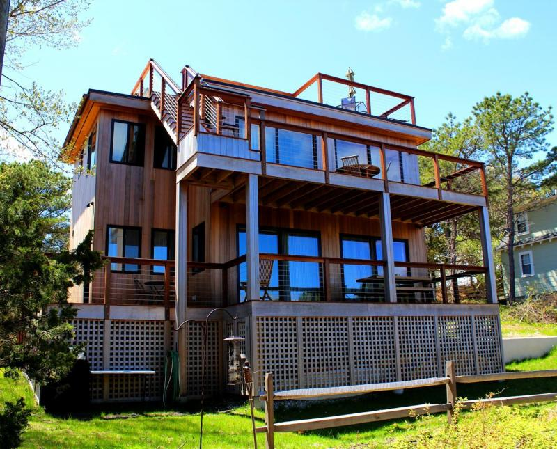 Exterior with multiple decks