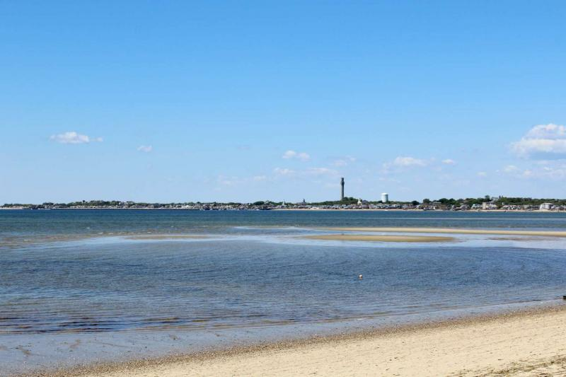 Views of Provincetown from the Cape Cod Bay beach