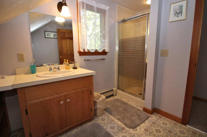 Second floor bathroom with shower only