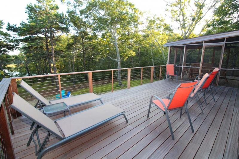 Large deck and screen porch