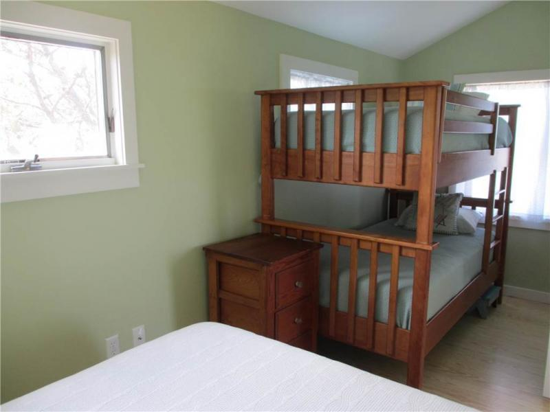 First floor bedroom with full and bunk bed