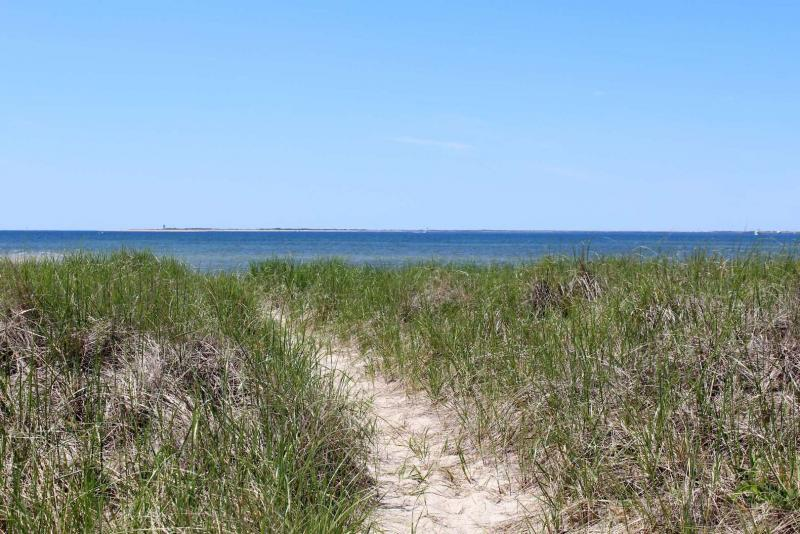 Follow the sandy path to the Cape Cod Bay beach