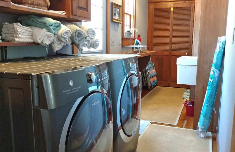 Laundry room on first floor