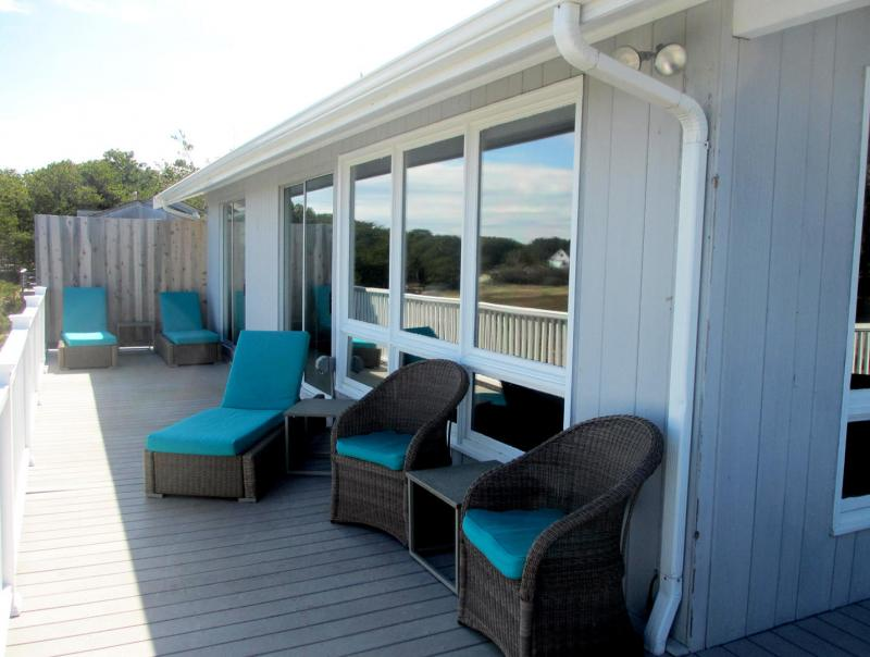 Comfortable furniture for lounging and dining outside
