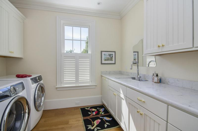 One of the laundry rooms