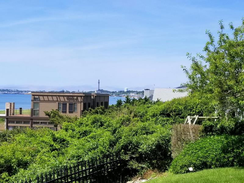 Looking out over the lawn towards Provincetown center