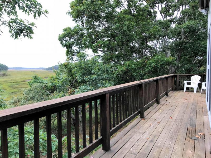 First floor deck overlooking the marsh