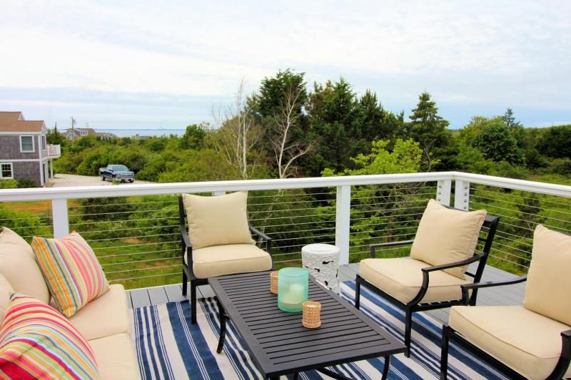 Upper deck has views of Cape Cod Bay