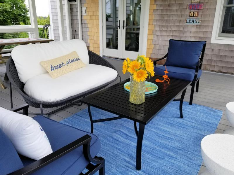 Lounge or dine out on the screen porch