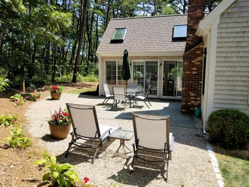 Slider from patio leads to sun room
