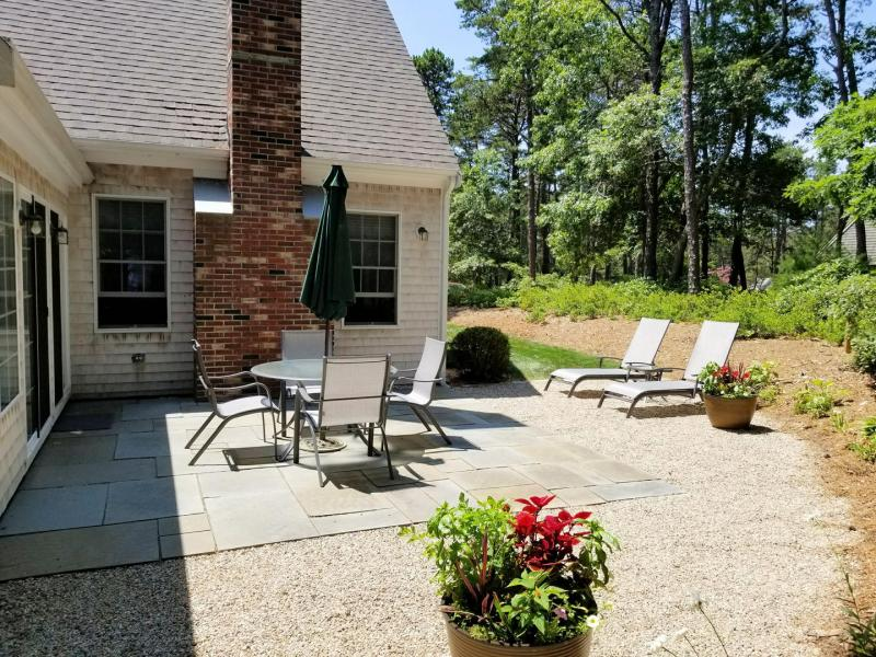 Relax and unwind on the lovely patio