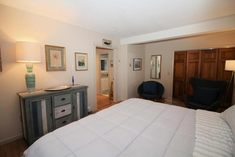 Lower level bedroom offers plenty of privacy