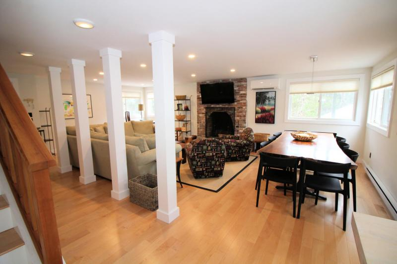 Open and bright living area with wood floors throughout