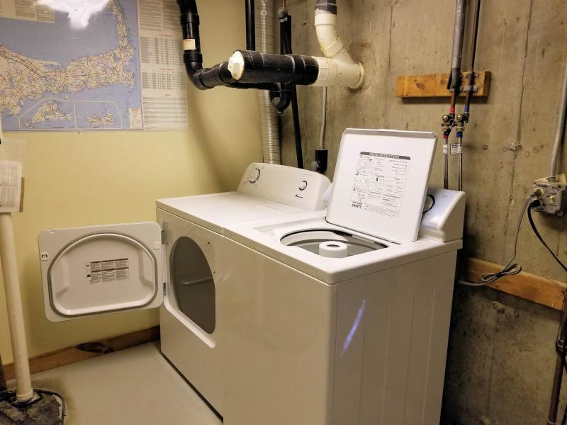 Washer and dryer in lower level