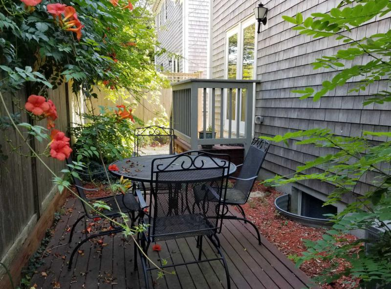 French doors from dining room lead to patio