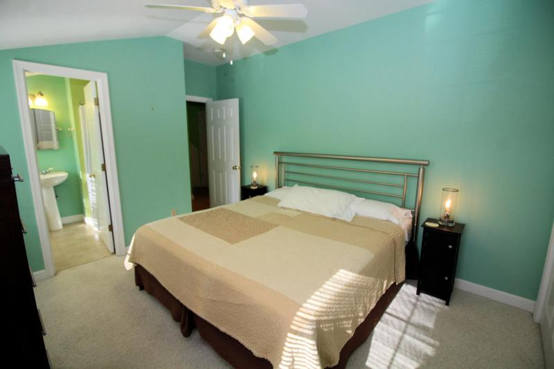 Master bedroom has air conditioning and TV