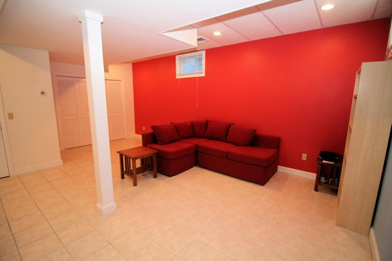 Lower level will be an area for entertaining