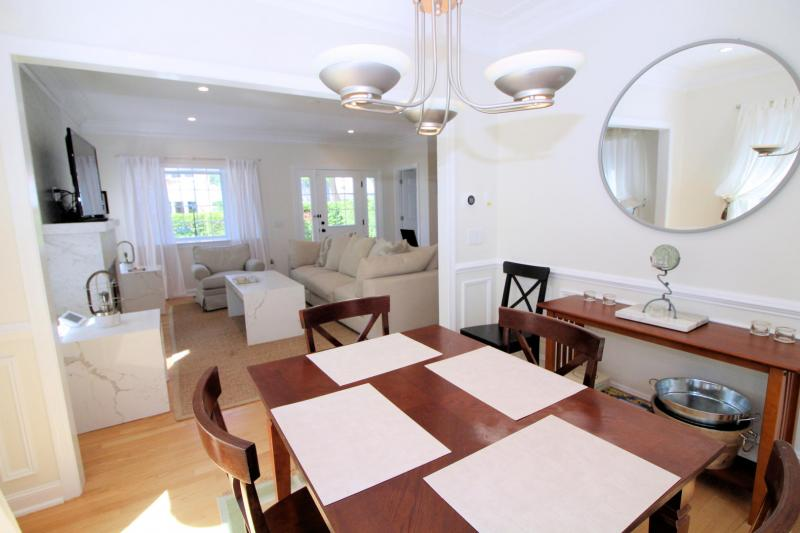 Dining room is just off living room
