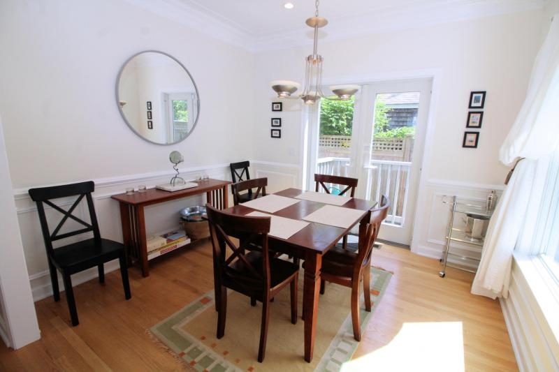 French door from dining room leads to private patio