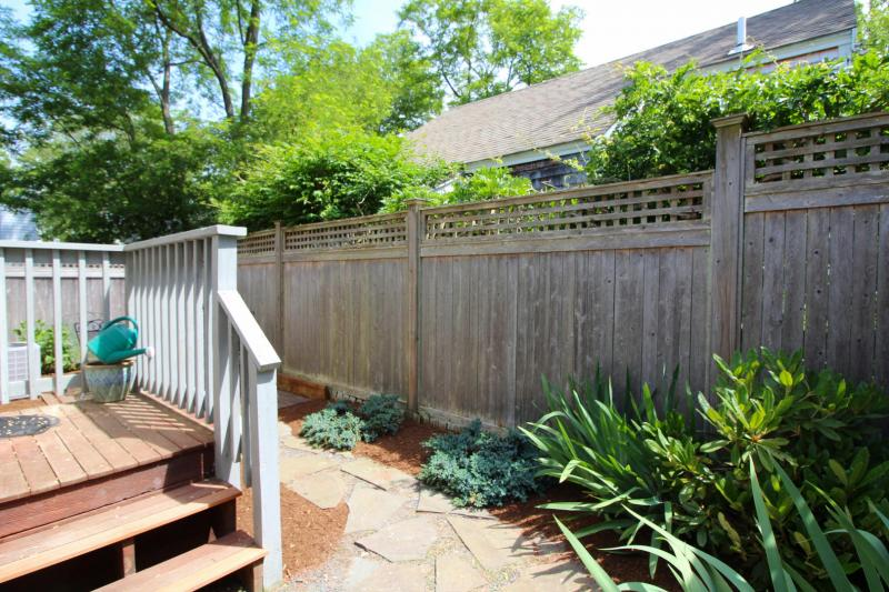 Second outdoor space is a private patio