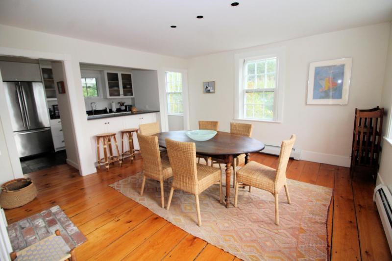 Dining room just off the kitchen