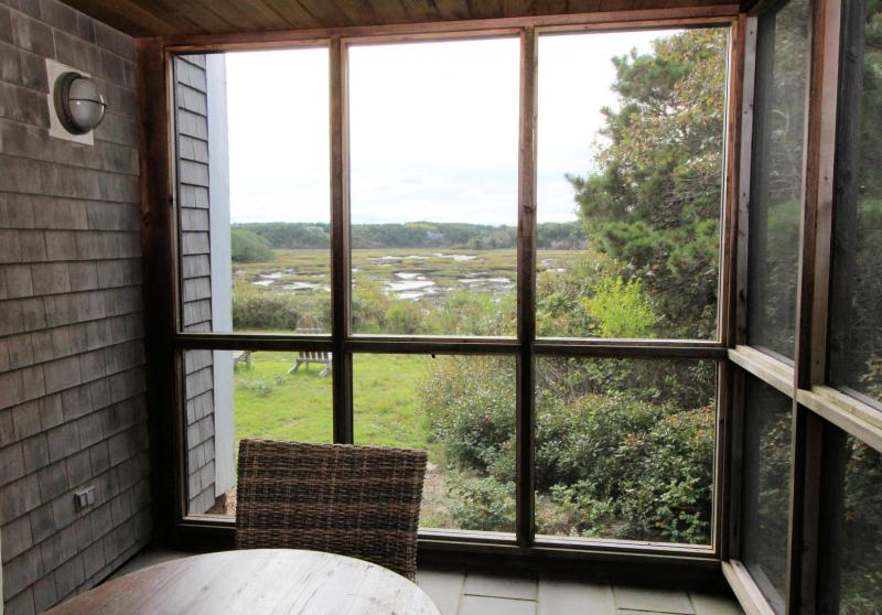 Wonderful screened in porch with Pamet views
