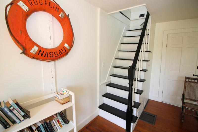 Staircase leading to second floor bedroom