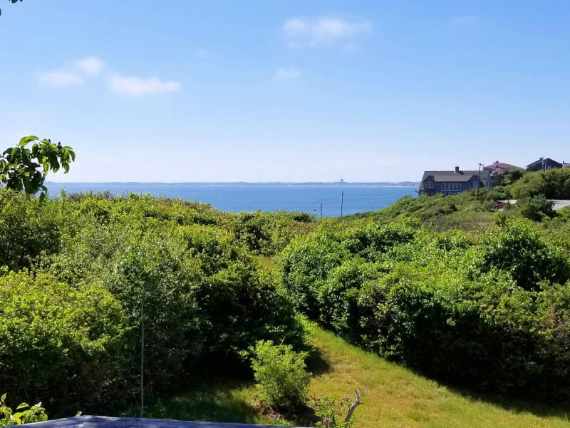 Private deck has amazing views of Cape Cod Bay