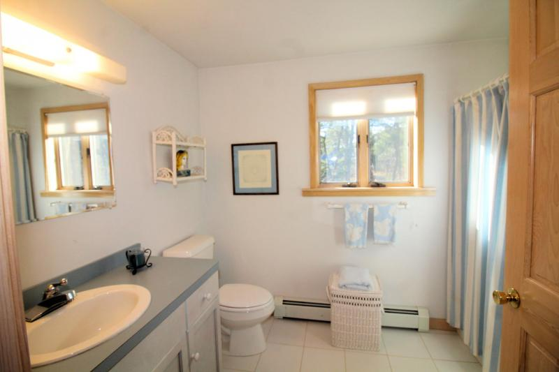 En suite bathroom with shower in apartment
