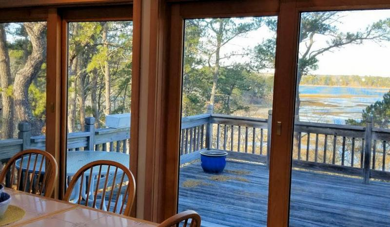 Wonderful Blackfish Creek views from kitchen and deck