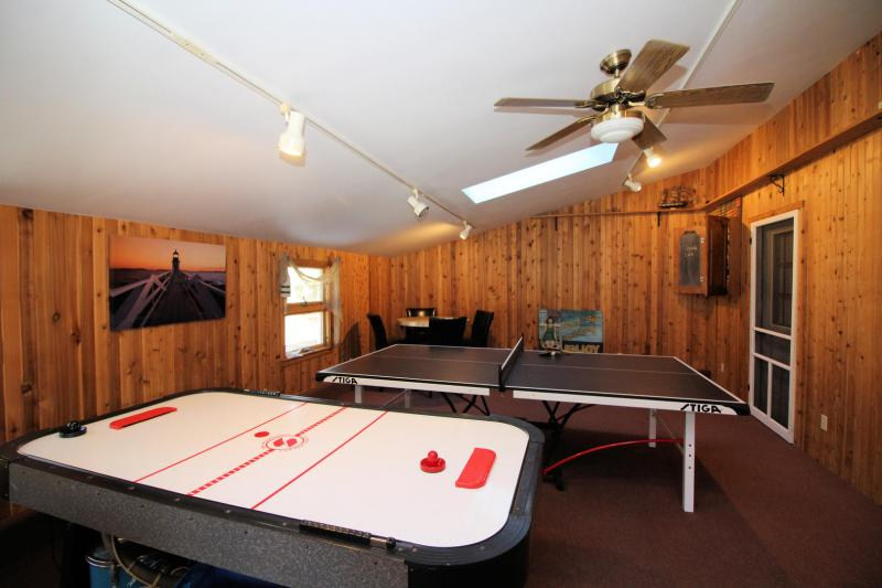 Awesome game room on the property