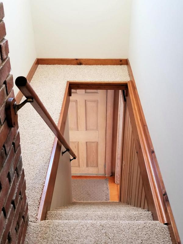 Stairs from first floor to second floor