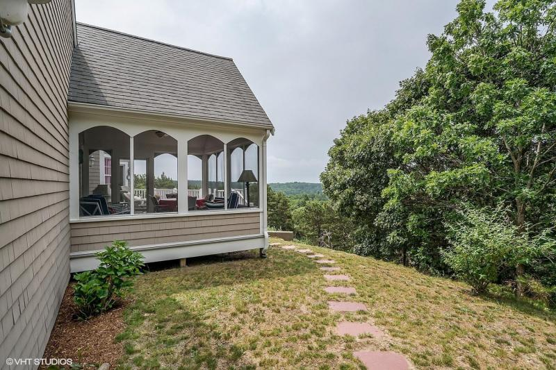 Wonderful screen porch off deck with great views