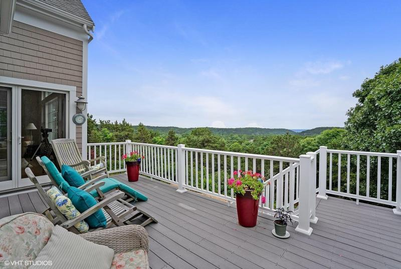 Beautiful upper deck with amazing views of Cape Cod Bay