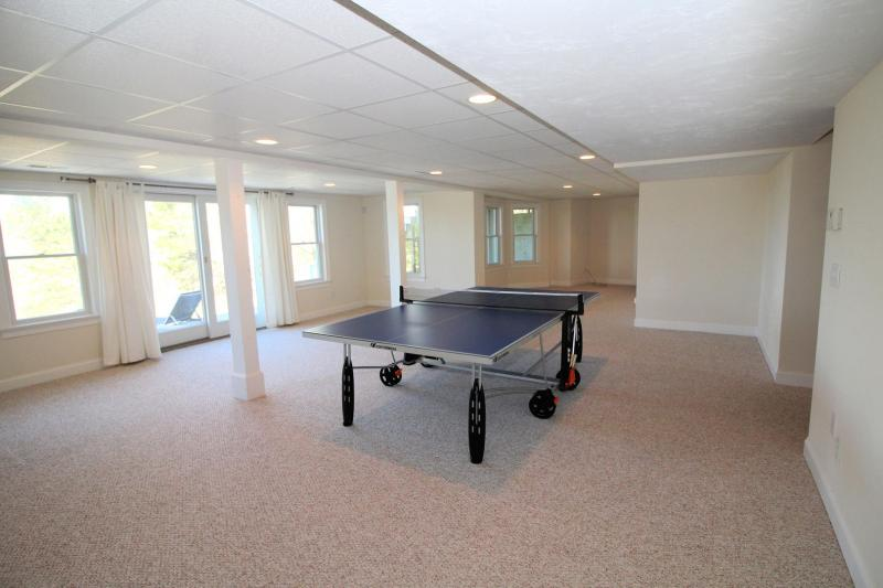 Ping pong table and slider in lower level to lower deck