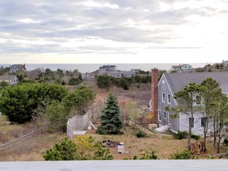View from the rooftop deck looking out at Cape Cod Bay