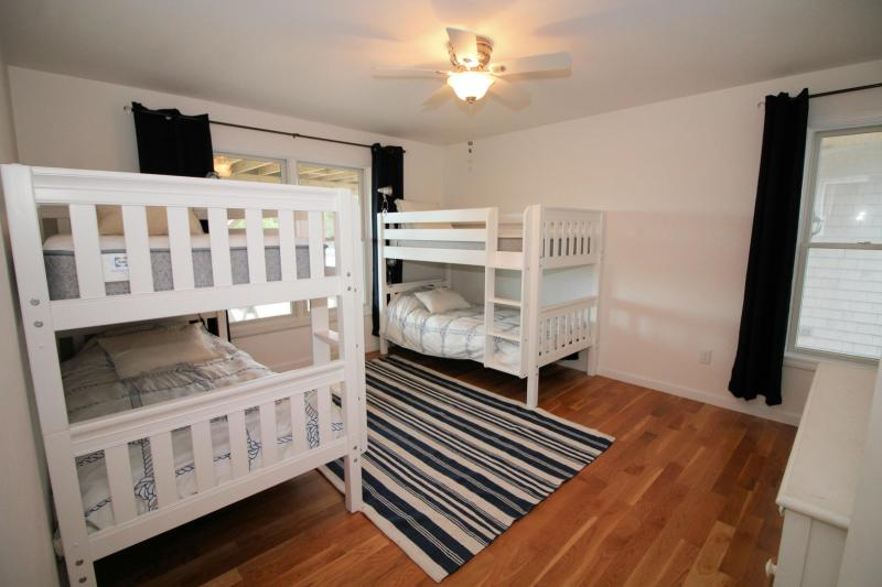 First floor bedroom with two bunk beds