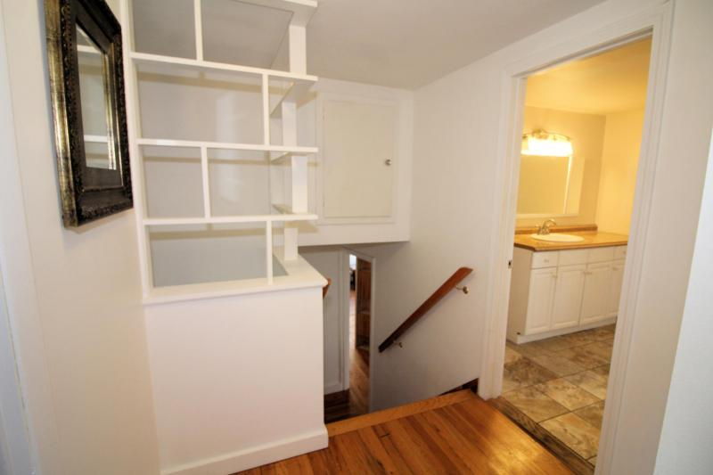 Stairs to level with master suite