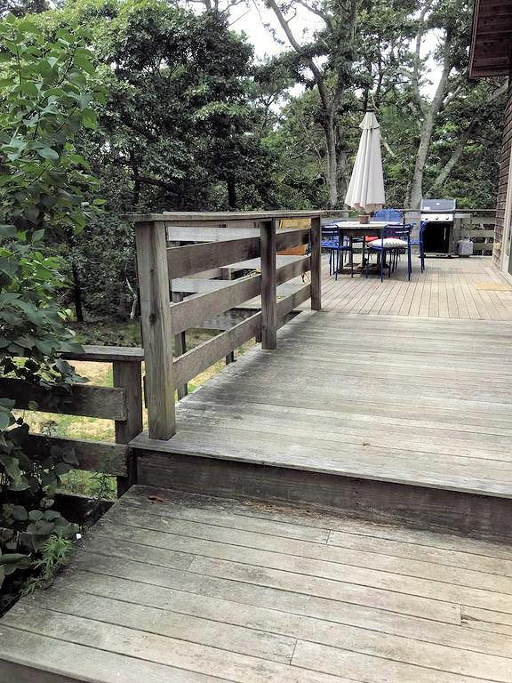 Wonderful deck looks out over conservation land