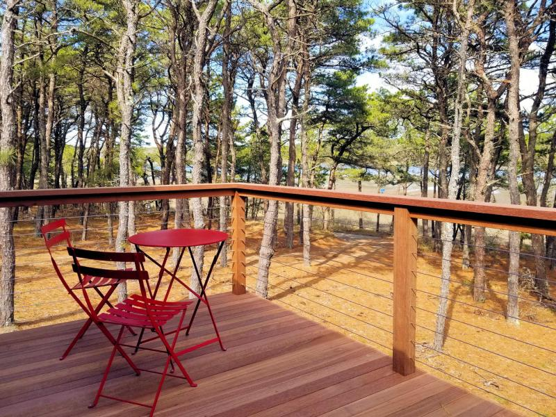 Front deck has amazing tidal marsh views and bistro table