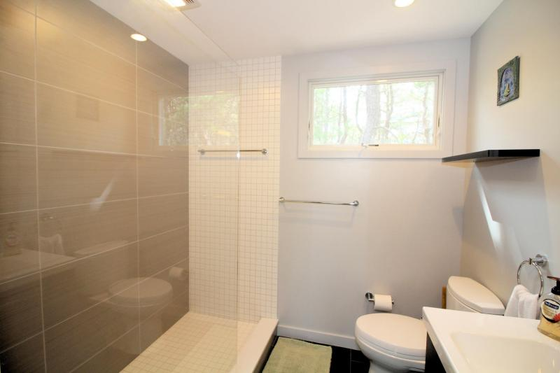 Bathroom with custom tile shower