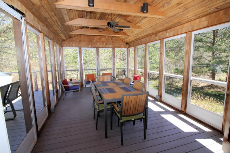 Wonderful screened porch off kitchen