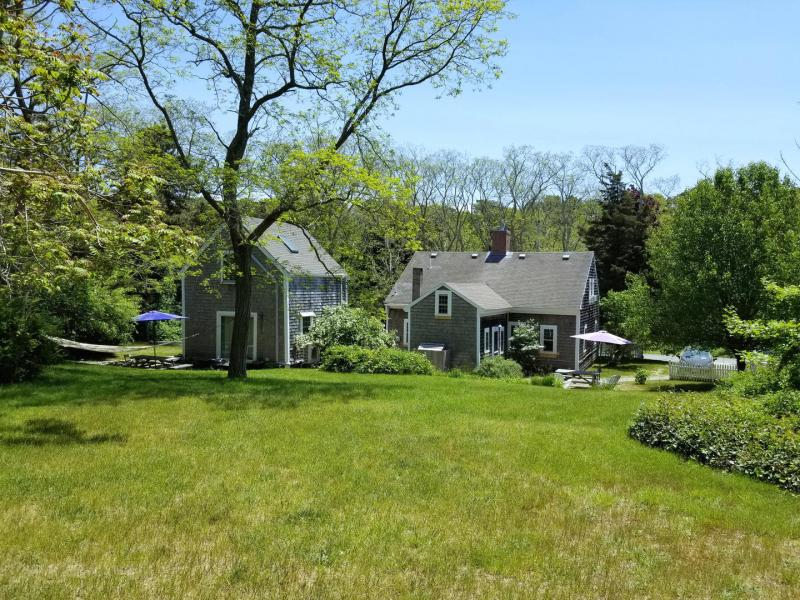 Beautifully maintained lawn and gardens