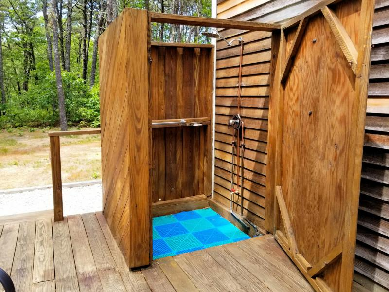 Large enclosed outdoor shower