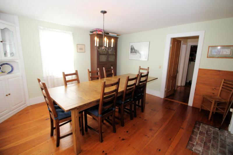 Dining room with large dining table