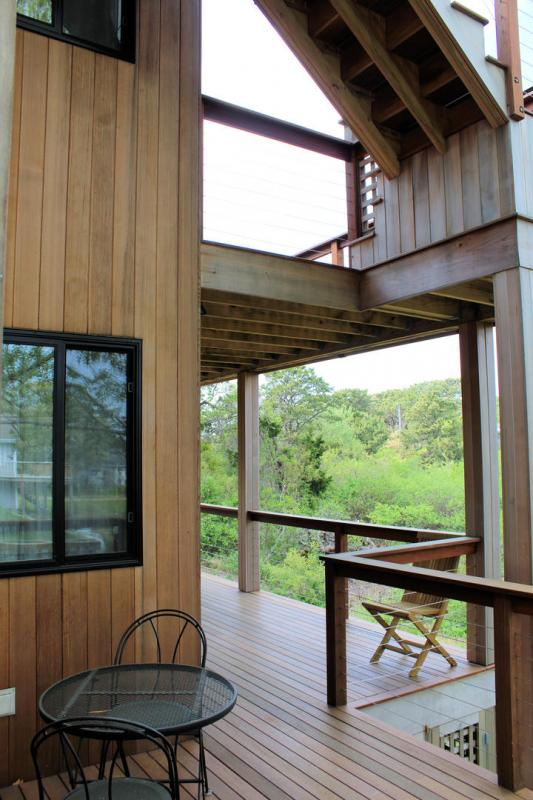 This stunning home has three levels of decking