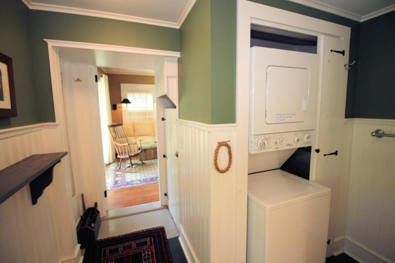 Washer and dryer in the bathroom
