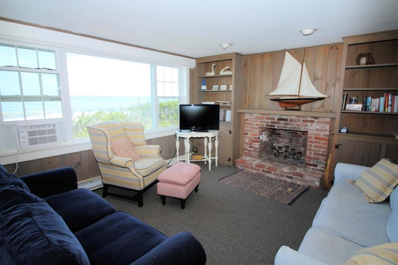 Lower level family room with TV and pull out sofa